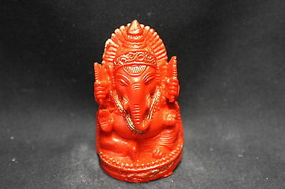 NEW Ganesha statue - Carnelian red colour finish (ST050R)