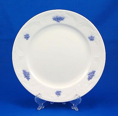 Adderley BLUE CHELSEA (SMOOTH EMBOSSED) Luncheon Plate 8.625 in. Leaves Grapes