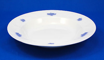 """Adderley BLUE CHELSEA (SMOOTH EMBOSSED) Large Rim Soup Bowl 8.75"""" Leaves Grapes"""