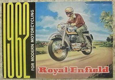 ROYAL ENFIELD MOTORCYCLES Sales Brochure 1962   PRINCE Clipper BULLET Meteor ++