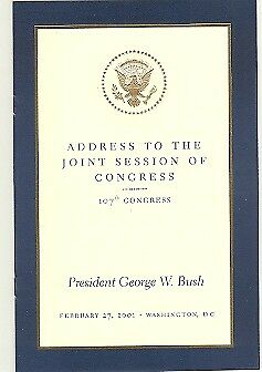 George Bush Address To Joint Session of Congress 2001