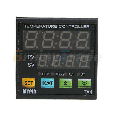 Dual Display Digital PID Temperature Controller SNR SCR w/ K Type Thermocouple
