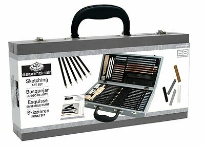 Royal and Langnickel Deluxe Sketching Artist Box Set, New, Free Shipping