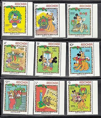 (71113) Redonda Christmas Disney Stamps 1983 - MNH