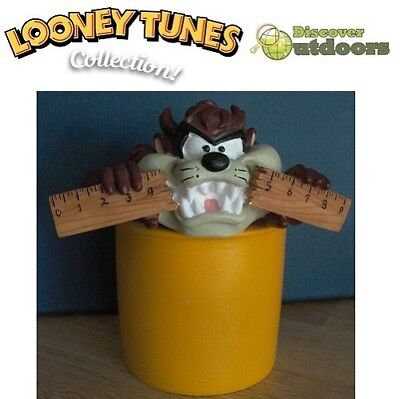 NEW Looney TUNES COLLECTIBLE Taz Devil PEN PENCIL HOLDER 4 School Ornament