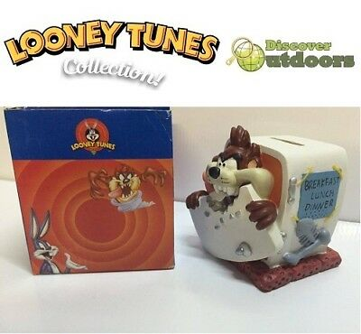 NEW Looney Tunes COLLECTIBLE Taz MONEY Box ORNAMENT Figurine 4 Kids BEDROOM
