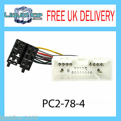 Pc2-78-4 Ford Ranger 2006 Onwards Iso Stereo Head Unit Harness Adaptor Lead