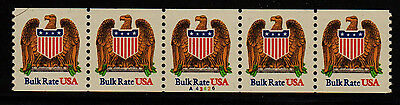 #2602 Eagle & Shield PNC5  Pl #A43426 - MNH