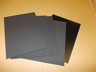 5 Pack A4 Black KYDEX Sheet 297 mm x 210 mm Assorted thickness Holster-Sheath