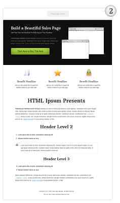 HTML Sales Page Templates on CD