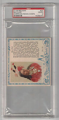T129 Red Man Big Chief Anmerican Indian Chiefs Psa 2