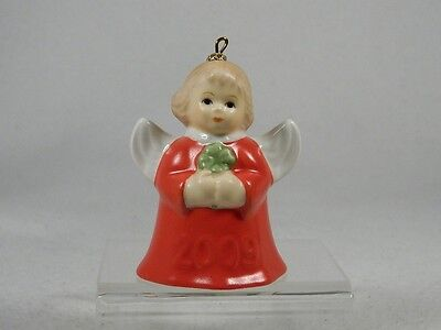 Goebel Annual 2009 Angel Bell Ornament With Clover 34th Edition NIB!