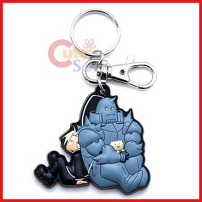 Fullmetal Alchemist Brotherhood PVC Key Chain Edward and Alphonse Rubber by GE