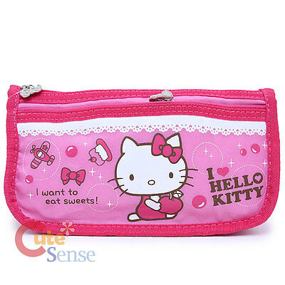 Hello Kitty Pencil Case  2 Zippered Cosmetic Bag - Pink