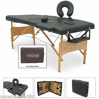 NEW Portable Massage Table w/ Carry Case Salon tattoo studio facial bed spa pad