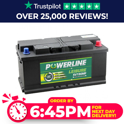 XV190 Leisure Battery LOW HEIGHT - Caravan Boat Marine Motorhome XV25MF