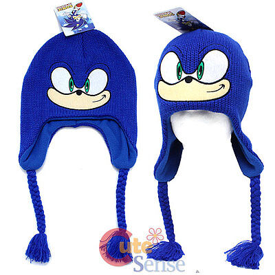 Sonic The Hedgehog Knitted Laplander Hat Beanie with Ear Flap (Junior)