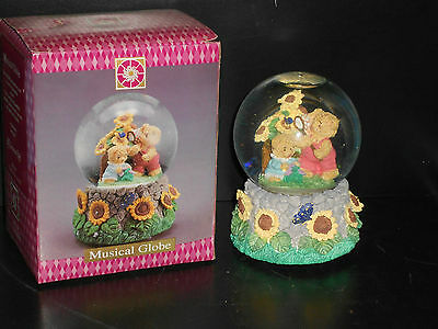 Teddy Bear Musical Globe A Gift From The Heart Collectible  Talk To The Animals