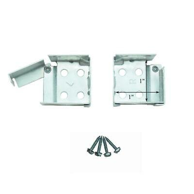 "1 pair METAL Swing Gate 1"" X 1"" Square MICRO or MINI BLIND END BRACKETS"