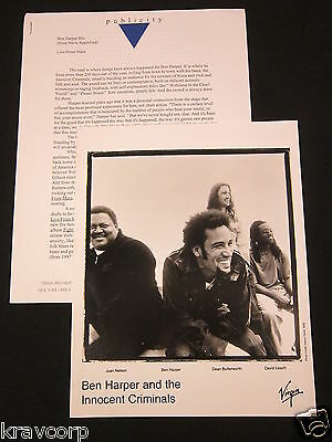 Ben Harper 'Live From Mars' 2001 Press Kit--Photo