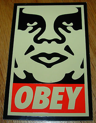 SHEPARD FAIREY Obey Giant Sticker 2.5 X 4 in CREAM OBEY ANDRE from poster print