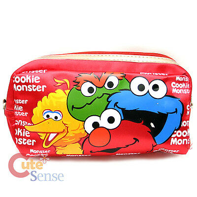 """Sesame Street Elmo and Friends Zippered Cosmetic Bag  Pencil Case 7"""" Pouch"""