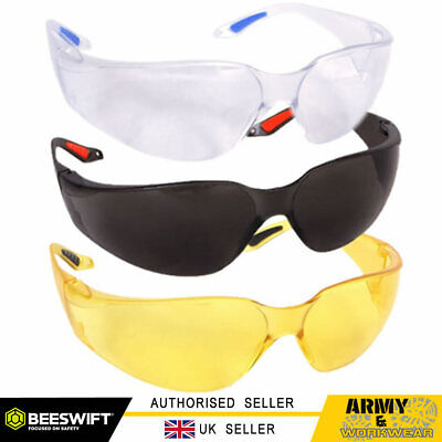 Safety Specs VEGAS Spectacles Sun Glasses Clear Smoke Yellow PPE Work Wear Light