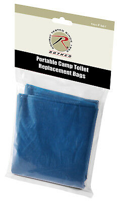 Portable Camping Toilet Camp Toilet Commode Replacement Bags 10 Pcs Rothco 561