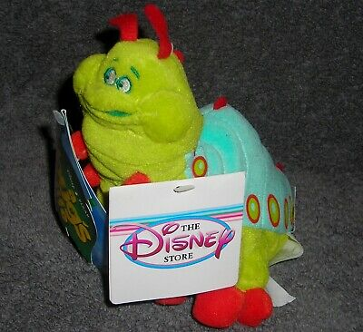 "Disney Store Exclusive A Bug's Life Heimlich 9"" Plush Bean Bag Toy"