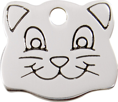 Medaille Chat /tete De Chat/red Dingo/ Acier Inoxydable/collier Chat