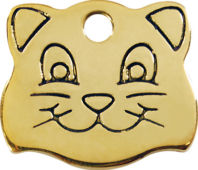 Medaille Chat/tete De Chat/gravure/red Dingo/laiton/collier Chat