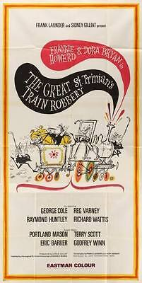 GREAT ST. TRINIAN'S TRAIN ROBBERY 1966 Frankie Howerd RONALD SEARLE UK 3-SHEET