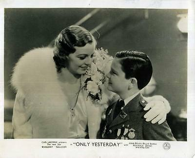 ONLY YESTERDAY 1933 Margaret Sullavan, Jimmy Butler 10x8 LOBBY CARD