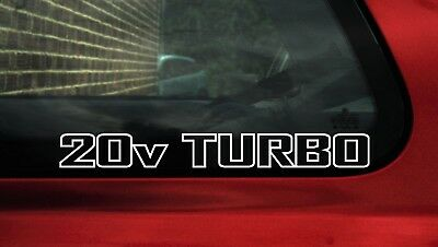 2x Retro '20v Turbo' car Stickers, Decal For any old school DUB with 20vt / 1.8t