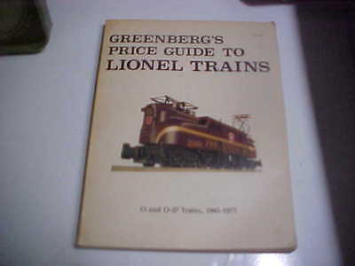 1977 Greenberg's Price Guide To Lionel Trains O & O-27 Trains, 1945-1977