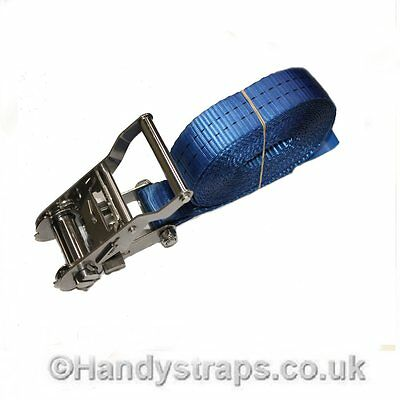 6m x 35mm Stainless Steel endless Ratchets Tie Down Straps  Lorry Lashing