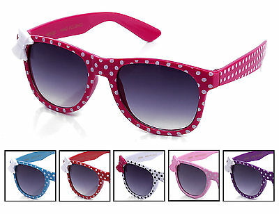 Girls Sunglasses 2 Pack Youth Two Tone Polka Dot w Bow Accent and Gradient Lens!