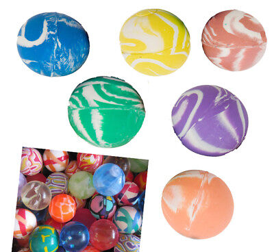 Colourful Patterned Rubber Super Bouncy Bouncing Balls Jet Ball Kids Party Gifts