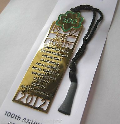 Girl Scout 100 Anniversary COMMEMORATIVE BOOKMARK 24k Gold Plated New GIFT