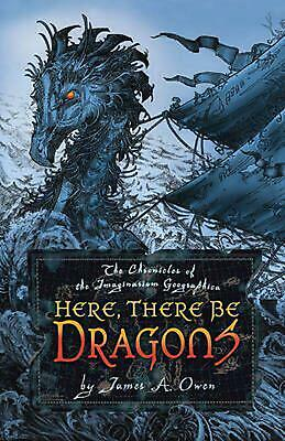 Here, There Be Dragons by James A. Owen (English) Hardcover Book Free Shipping!