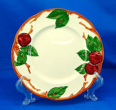 Franciscan APPLE (AMERICAN) Salad Plate 8 in. Red Apples Earthenware Cream Brown