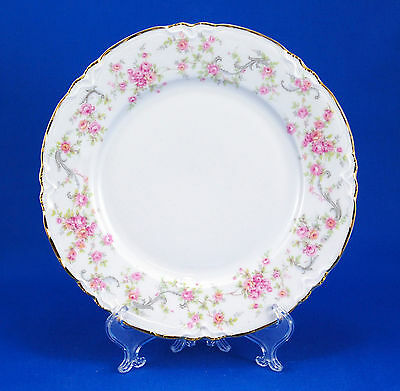 Hutschenreuther RICHELIEU 7658 Salad Plate 7.75 in. Gelb Pasco Pink Roses Gold