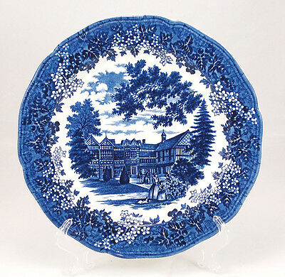 J and G Meakin ROMANTIC ENGLAND - BLUE Dinner Plate 10.375 in. Round Backstamp