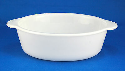 Anchor Hocking ANCHORWHITE 1.5 Qt Oval Vegetable Bowl 8 in. Fire - King Ovenware