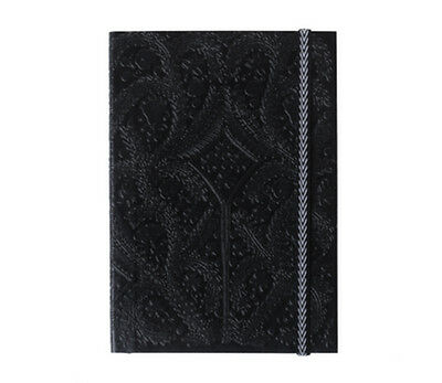 Christian Lacroix PASEO BLACK A5 Layflat Notebook 6 x 8.5 inch 152 Ruled #01031