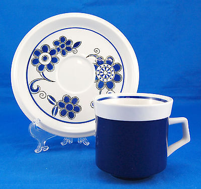 Mikasa Light n Lively SEA ISLE D5952 Flat Cup and Saucer Set 3.25 in. Flowers