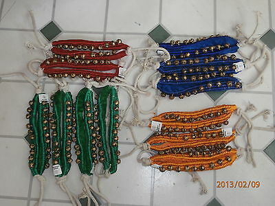 1 row Indian dance ETHNIC ANKLE BELLS  ( ghungroo )- Bellydance , Tribal , Gypsy
