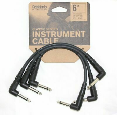 "Planet Waves Classic Patch Cables. 3 x 6"" Length,Right Angled Plug PWCGTP305"