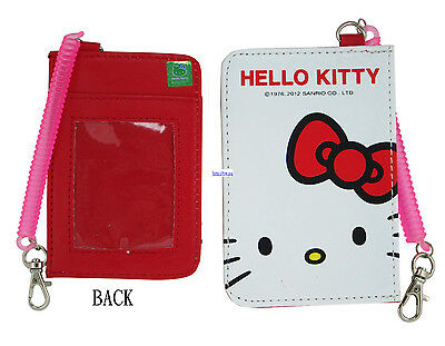 Sanrio HELLO KITTY ID Credit CARD Ticket HOLDER , Name Tag w/ Elastic Band x 1