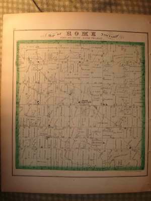 Antique 1874 Rome Township Lenawee County Michigan Handcolored Map Rare Nr